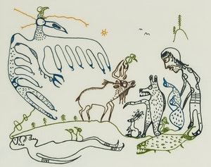 Artwork by Norval Morrisseau, Shaman's Dream
