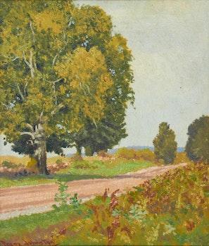 Artwork by Frank Hans Johnston, September Side Road