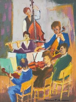 Artwork by Henri Leopold Masson, The Recital