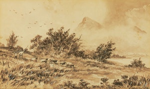 Artwork by William Nicoll Cresswell, A Storm on Mount Yaqui, Colorado
