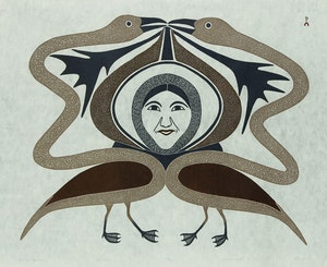 Artwork by Kenojuak Ashevak, Eternal Spirit