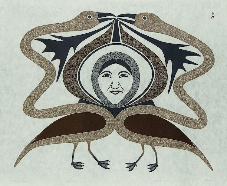 Artwork by Kenojuak Ashevak,  Eternal Spirit