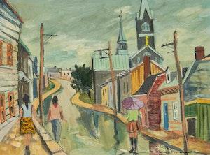 Artwork by Henri Leopold Masson, Rue Franklin, Quebec