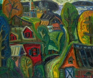 Artwork by Pierre Bedard, Charlevoix dans l'oeil
