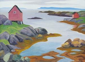 Artwork by Doris Jean McCarthy, Newfoundland Tickle