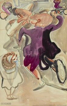 Artwork by Pegi Nicol MacLeod, Children Playing, NYC