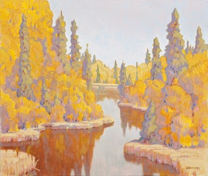 Artwork by Terry Watkinson, Algoma, Late September