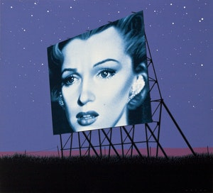 Artwork by Andrew Valko, Marilyn Visits the Prairies