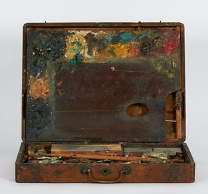 Artwork by Carl Henry von Ahrens, The Artist's Paint Box and Palette