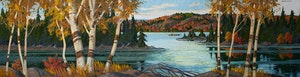 Artwork by Adolphus George Broomfield, Late Afternoon, Northern Ontario
