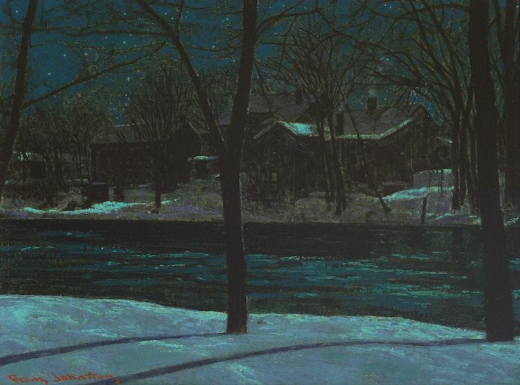 Artwork by Frank Hans Johnston,  March Midnight