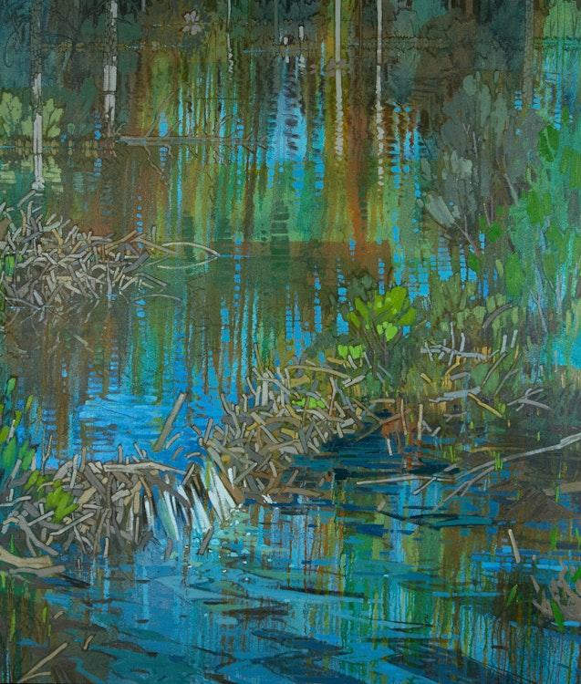 Artwork by Edward W. (Ted) Godwin,  Hidden Valley (B)