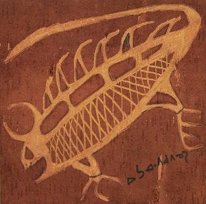 Artwork by Norval Morrisseau, Water Beetle