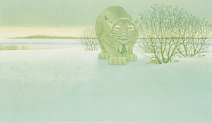 Artwork by Christopher Pratt, The Lynx