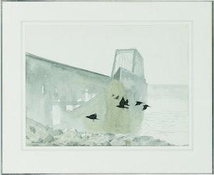 Artwork by Thomas de Vany Forrestall, Bridge in Fog
