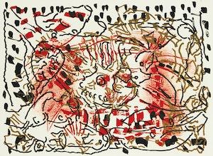 Artwork by Jean Paul Riopelle, L'oie de feu - l'oie au soleil