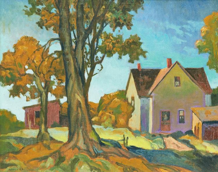 Artwork by Joachim George Gauthier,  Ontario Farmhouse