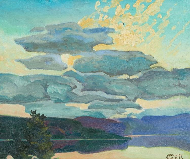 Artwork by Joachim George Gauthier,  Evening Clouds, Lake Kushog