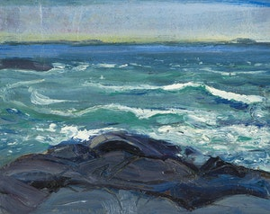 Artwork by Arthur Lismer, Georgian Bay, Manitou Dock