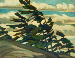 Artwork by Peter Haworth, Pine Trees - Georgian Bay