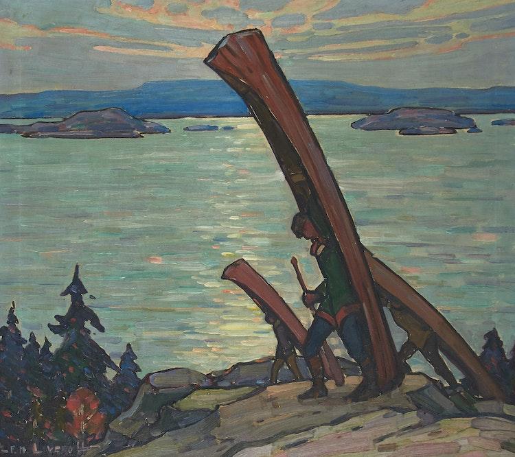 Artwork by Frederick Nicholas Loveroff,  The Portage
