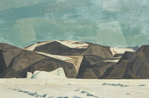 Artwork by Alan Caswell Collier, Cape Mercy - Baffin Island