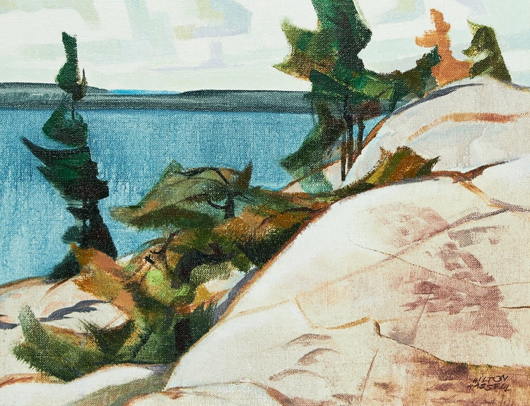 Artwork by Hilton MacDonald Hassell,  Pines at Kilbear Point, Georgian Bay