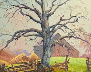 Artwork by Joachim George Gauthier, Old Beech Tree (Near King)