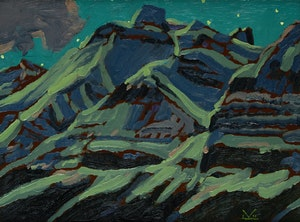 Artwork by Illingworth Holey Kerr, Mountain Moon