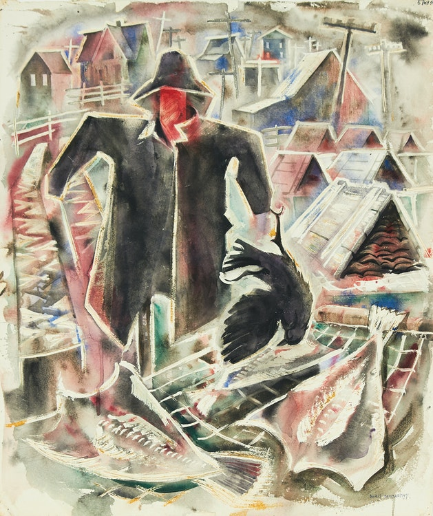 Artwork by Doris Jean McCarthy,  The Fisherman, 1957