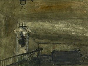 Artwork by Thomas de Vany Forrestall, Interior with Lamp