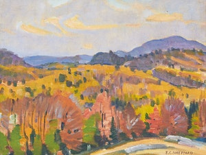 Artwork by Peter Clapham Sheppard, Autumn, Bancroft Hills