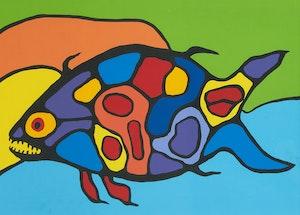 Artwork by Norval Morrisseau, Soul Floating in Cosmic Sea