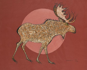 Artwork by Eddy Cobiness, Moose (Twig Eater)
