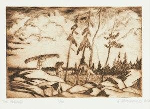 Artwork by Adolphus George Broomfield, Folio of Six Etchings (Brackenwood Studio Press, Mississauga)