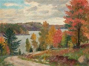 Artwork by Thomas Albert Stone, Autumn Landscape