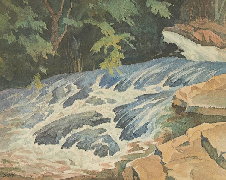 Artwork by Joachim George Gauthier,  Rushing Water