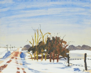 Artwork by William Perehudoff, Untitled (Road in Winter)