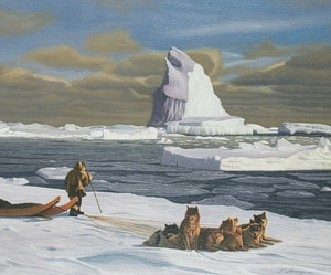 Artwork by Lorenzo Fracchetti, Arctic Landmark