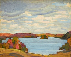 Artwork by Peter Clapham Sheppard, Four Mile Lake, Haliburton