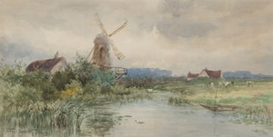 Artwork by Frederic Marlett Bell-Smith, Windmill, Holland