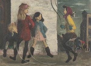 Artwork by William Arthur Winter, Skipping