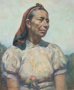Artwork by Adam Sherriff Scott, Portrait of a Inuit Woman