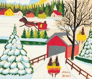 Artwork by Maud Lewis, Sleighing Scene