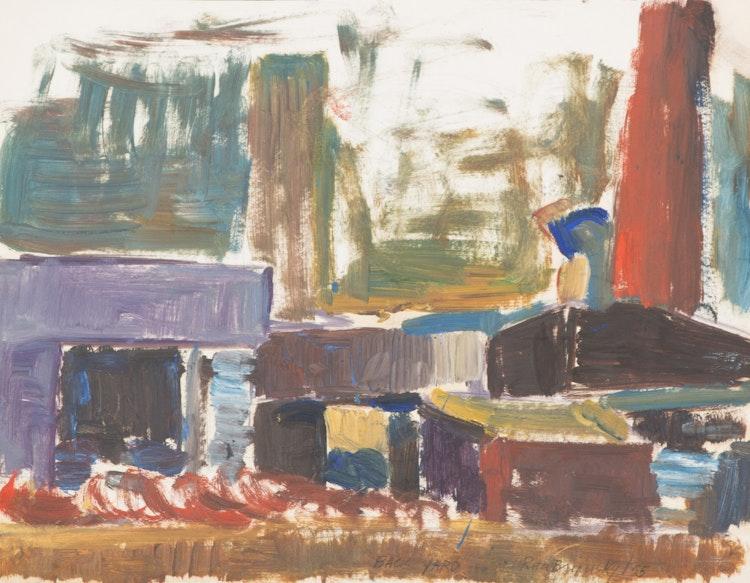 "Artwork by Rita Briansky,  Study From Henry Moore; Autumn Study; Back Yard; ""Anson"""