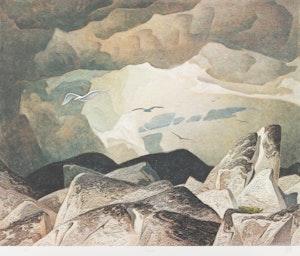 Artwork by Alfred Joseph Casson, Crescendo; Annables General Store; Sunlit Island
