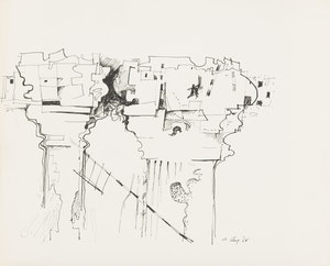 Artwork by Jack Leonard Shadbolt, Study for Space Between Column 2; Study for Space Between Column 3
