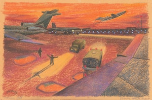 Artwork by Philip Henry Howard Surrey, Evening, Atlanta Airport