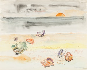 Artwork by Bobs Cogill Haworth, Shells on the Beach