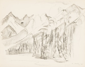 Artwork by Kathleen Francis Daly Pepper, Two Mountain Landscape Sketches